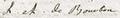 Louise Adélaïde de Bourbon, Mademoiselle de Condé signature in 1778 (baptism of Madame Royale).png