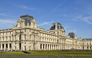 Louvre Art museum and Historic site in Paris, France