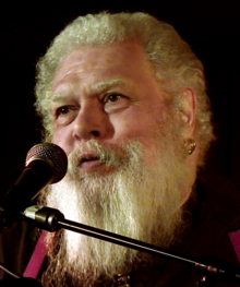Photograph of Samuel R. Delany at a reading
