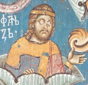 Vukan Nemanjić - Stefan, Fresco from Visoki Dečani