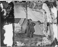 Lt. Gen. Ulysses S. Grant standing by a tree in front of a tent, Cold Harbor, Va. - NARA - 524455.tif