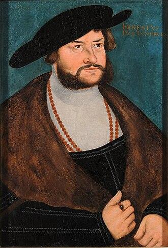 Ernest I, Duke of Brunswick-Lüneburg - Painting of Ernest the Confessor by Lucas Cranach the Elder