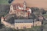 Luftbild der Burg Ronneburg