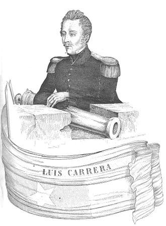 Battle of Las Tres Acequias - Luis Carrera, younger brother and commander of José Miguel Carrera's army at Las Tres Acequias