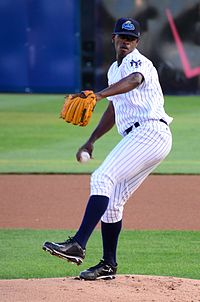 43173b667b2a6 Severino pitching for the Trenton Thunder in 2014