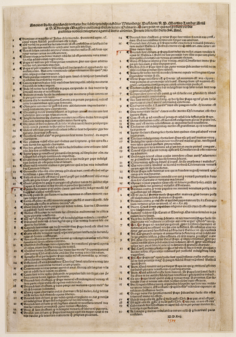 Martin Luther initiated the Reformation with his Ninety-five Theses in 1517 Luther 95 Thesen.png