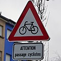 Luxembourg road sign A,12 (passage cyclistes).jpg