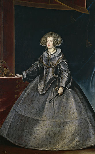 Frans Luycx - Portrait of Maria Anna of Spain