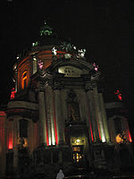 Lviv - Dominican church - night - 01.jpg