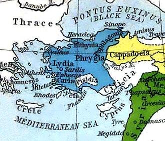 Lydia - Lydian Empire circa 600 BC.