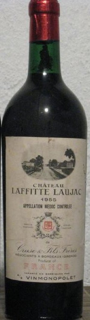 Médoc AOC - A bottle from an estate within the Médoc AOC, in this case Château Laffitte Laujac.