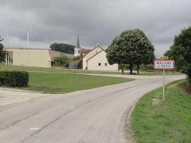 Méligny-le-Petit (Meuse) city limit sign