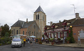 The church in Ménestreau-en-Villette