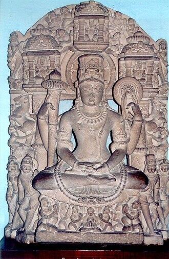 Mathura district - Vishnu with ayudhapurushas, Mathura, India