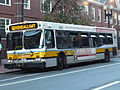 MBTA route 68 bus laying over at Harvard Square, September 2014.jpg
