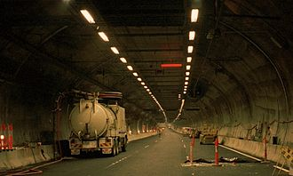 Burnley Tunnel - View in December 2000, just before opening