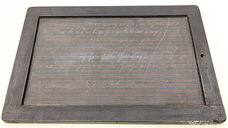 Slate (writing) - Slate from 1894, used in Berlin, Germany, currently at the Museum Europäischer Kulturen