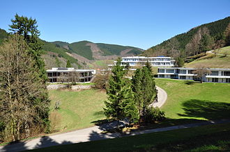 Mathematical Research Institute of Oberwolfach - The library, the main building and the bungalows