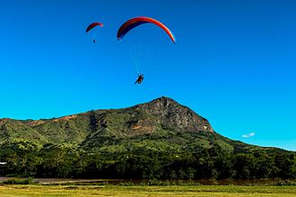 Paragliding - Governador Valadares, Brazil is known internationally for the World Paragliding Championships that has been held at Ibituruna Peak (1123 metres).