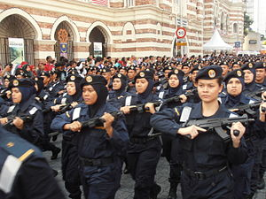Law enforcement in Malaysia - Female officers of MMEA.