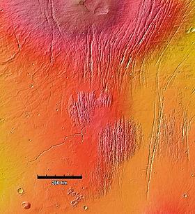MOLA colorized image of Ceraunius Fossae region.jpg