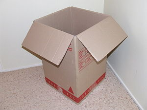 Box - An empty box made of corrugated fiberboard