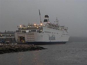 MS Regina della Pace - Fantaasia at Strömstad during her charter to Kystlink.