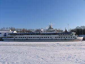 M V Lomonosov in North River Port 31-jan-2012 02.JPG
