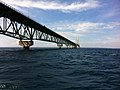 Mackinac Bridge from Straits of Mackinac during boat tour - 0012.jpg