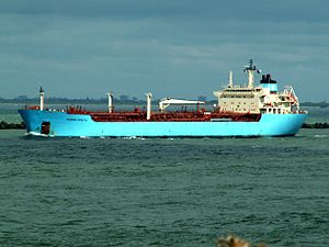 Maersk Rosyth p1 leaving Port of Rotterdam, Holland 10-Aug-2005.jpg