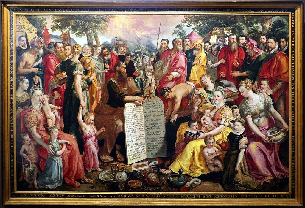 File maerten de vos mos con le tavole della legge 1574 - Le tavole della legge ...