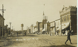 Main street looking north in Lyle, Minnesota c...
