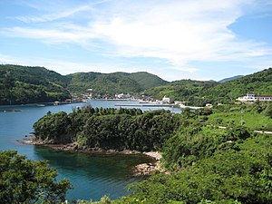 Chibu, Shimane - The main populated area of Chibu