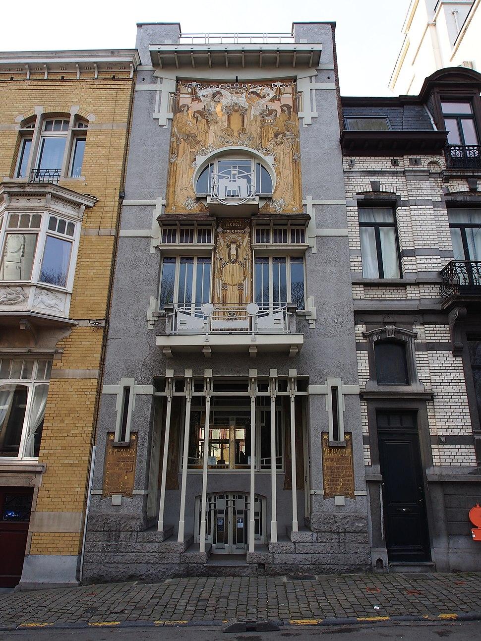 Maison Cauchie, Rues des Francs - Franken-straat 5, pic1