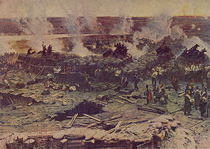Battle of Malakoff - Detail of Franz Roubaud's panoramic painting (1904).