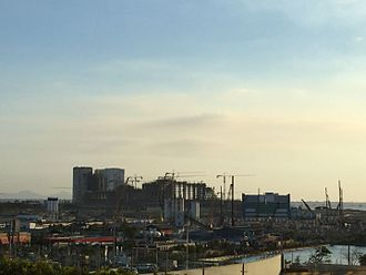 Okada Manila - The complex under construction in 2015