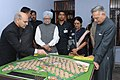 Manmohan Singh inspecting the model of the Housing Complex Dhanas, at Dhanas, Chandigarh. The Governor of Punjab, Shri Shivraj Patil and the Union Minister for Housing & Urban Poverty Alleviation.jpg