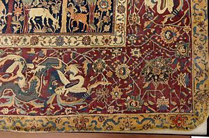 Persian carpet - Detail of the Mantes Carpet, Safavid, Louvre