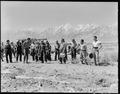 Manzanar Relocation Center, Manzanar, California. Farm crew of which Johnny Fukazawa is foreman. T . . . - NARA - 538049.tif