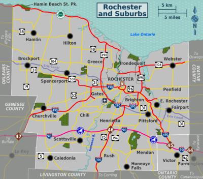 Rochester and Suburbs – Travel guide at Wikivoyage on northfield ny map, charlotte nc map, rochester zip codes by street, corning ny map, avon ny map, ithaca ny map, burlington vt map, long island city ny map, niagara university ny map, manhattan ny map, penn yan ny map, brighton ny map, lake ontario ny map, new york map, new paltz map, binghamton ny map, albany ny map, somers ny map, buffalo ny map, rochester new york,