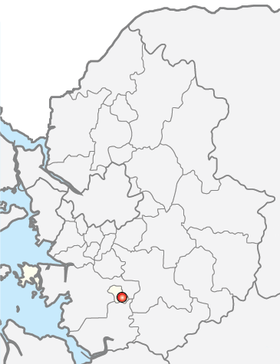 Location of Osan