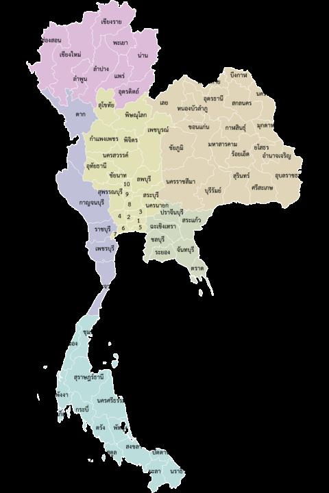 รายชื่อจังหวัดในประเทศไทย