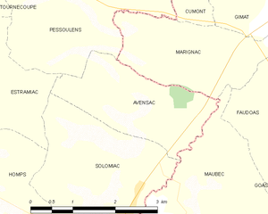 Avensac - Avensac and its surrounding communes