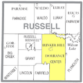 Map highlighting Center Township, Russell County, Kansas.png