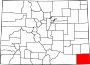 Map of Colorado highlighting Baca County.svg