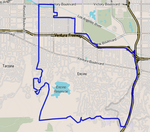 Map of Encino, Los Angeles, California.png