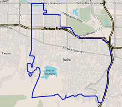 Encino as mapped by the Los Angeles Times