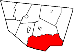 Map of Sullivan County, Pennsylvania highlighting Davidson Township