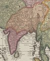 Map of Tibet with maps of India and Ceylon (Sri Lanka), from- Asiae nova delineatio by N. Visscher (cropped).tif