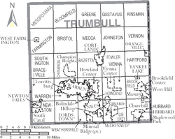Municipalities and townships of Trumbull County.